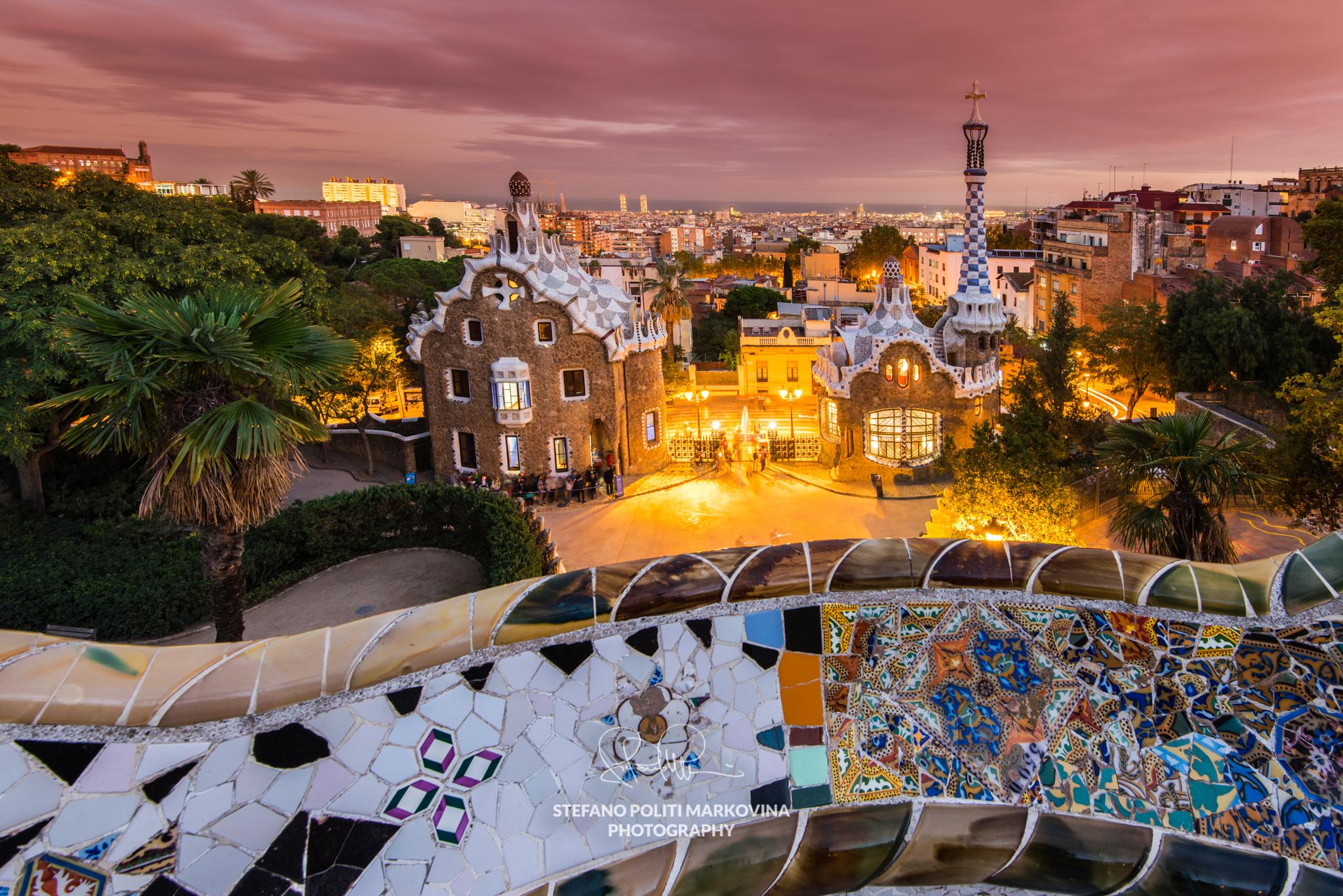Park Guell, Barcelona, Catalonia, Spain
