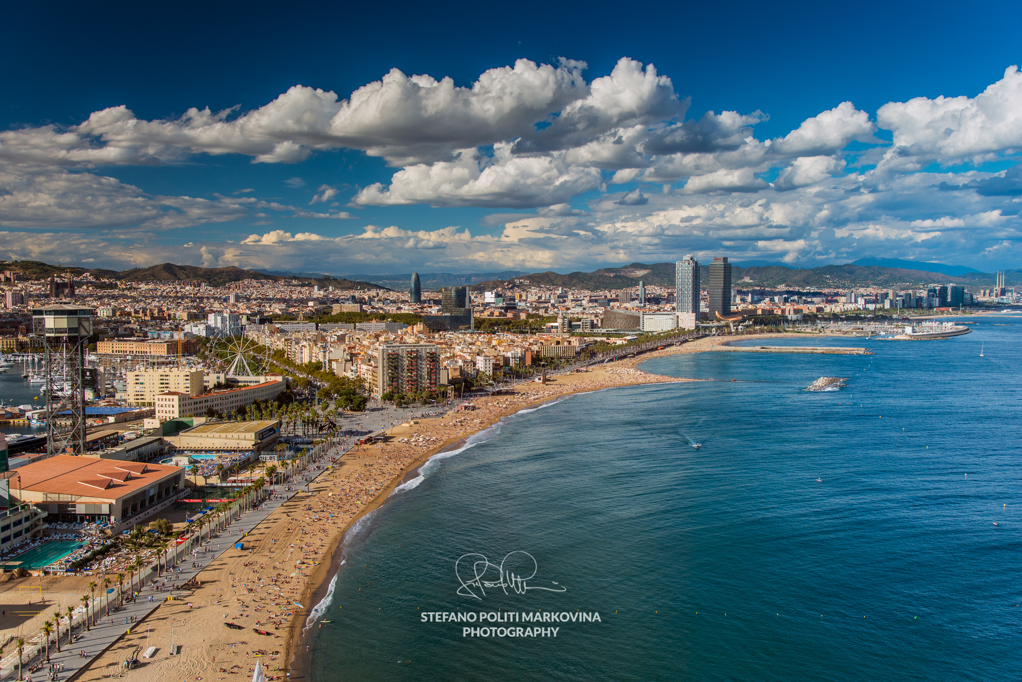 City skyline, Barcelona, Catalonia, Spain
