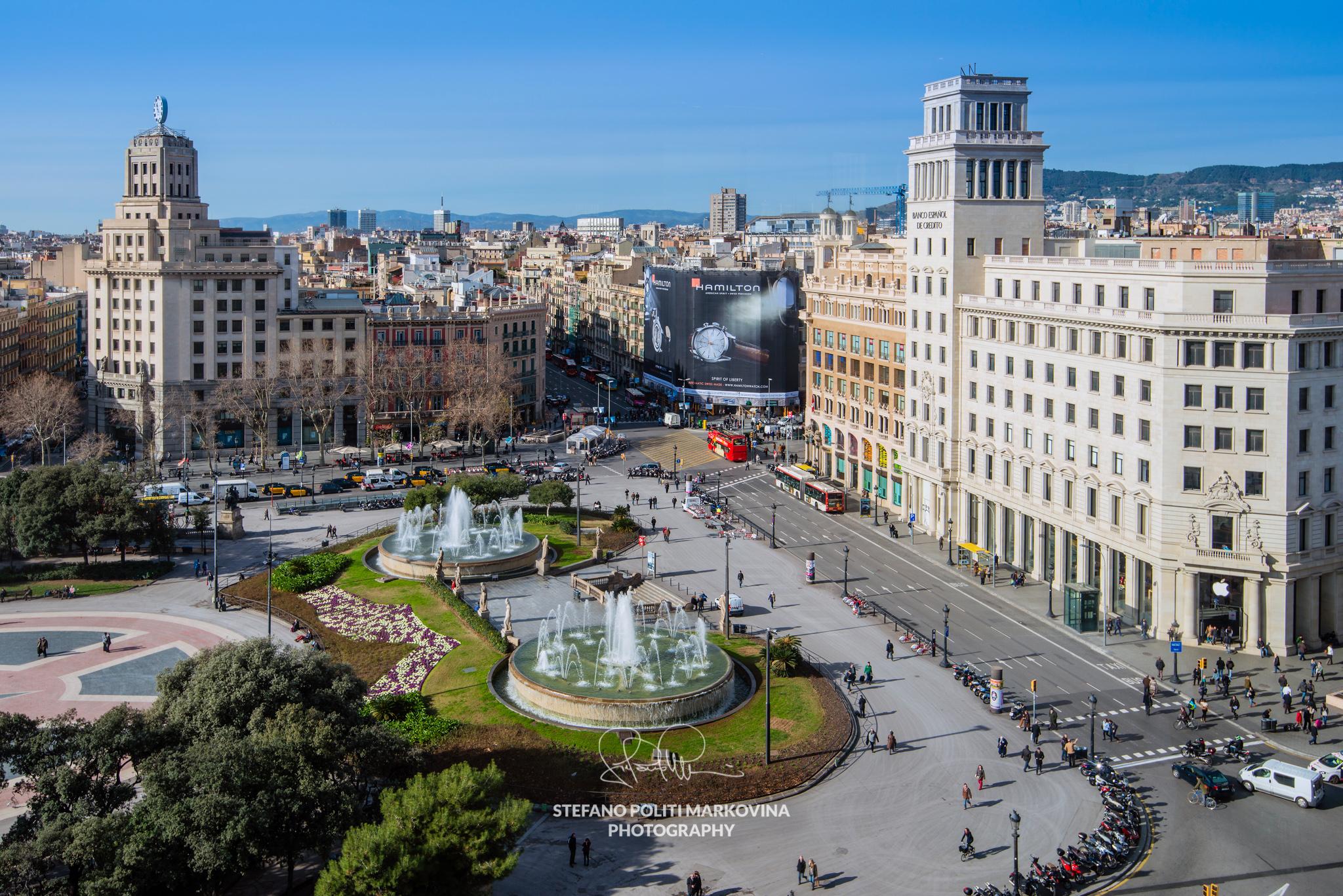 Plaza Catalunya, Barcelona, Catalonia, Spain