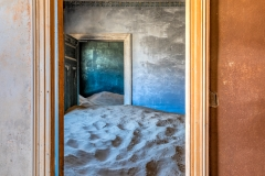Interior of abandoned house, Kolmanskop, Karas, Namibia
