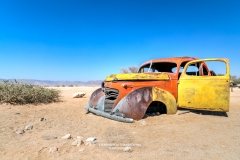 Old rusty car in the desert, Solitaire, Khomas, Namibia