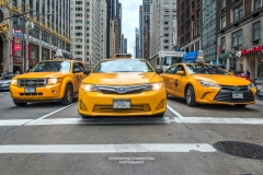 Taxi cabs, Manhattan, New York, USA