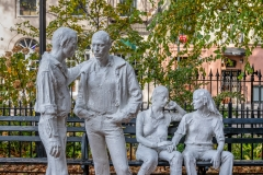 Gay Liberation Monument, Christopher Park, West Village, New York, USA