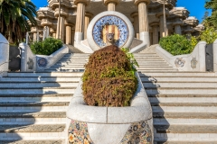 Fountain with the Snake Head, Park Guell, Barcelona, Catalonia, Spain