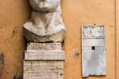 Head of the statue of Emperor Constantine, Palazzo dei Conservatori, Capitoline Museums, Rome, Lazio, Italy