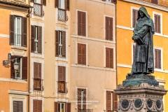 Statue of philosopher Giordano Bruno, Campo de' Fiori square, Rome, Lazio, Italy