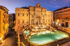 Trevi fountain and Palazzo Poli, Rome, Lazio, Italy