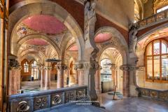 Interior of pavilion, Hospital de la Santa Creu i Sant Pau, Barcelona, Catalonia, Spain