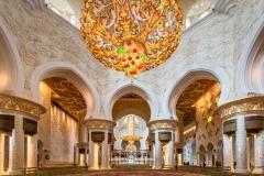 Main prayer hall, Sheikh Zayed Mosque, Abu Dhabi, United Arab Emirates