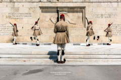Changing of the Guard in front of the Greek Parliament building, Athens, Attica, Greece
