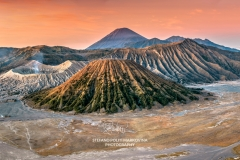 Mountains Bromo, Semeru, Batok and Widodaren at sunrise, Bromo Tengger Semeru National Park,  Java, Indonesia