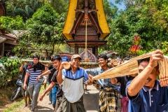 Traditional funeral rites in a Toraja village, Rantepao, Tana Toraja, Sulawesi, Indonesia