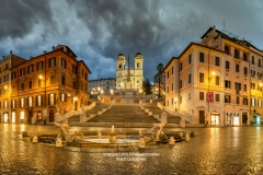 Piazza di Spagna and Spanish Steps by night, Rome, Lazio, Italy