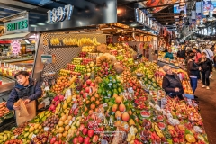 Boqueria food market, Barcelona, Spain