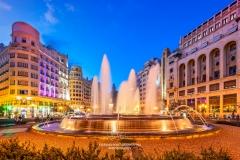 Plaza del Ayuntamiento square, Valencia, Spain
