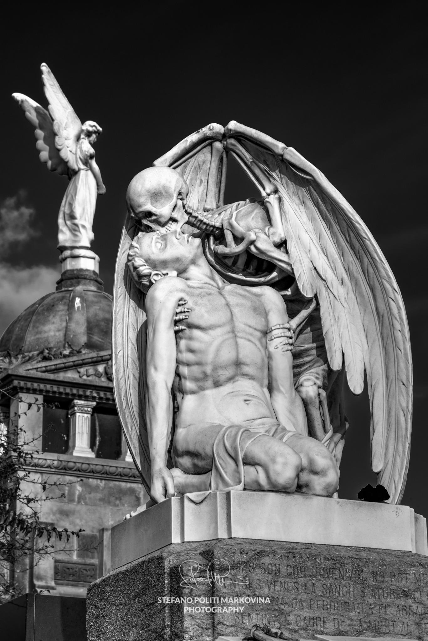 Photographing Poblenou cemetery