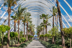 L'Umbracle landscaped walk, City of Arts and Sciences, Valencia, Spain