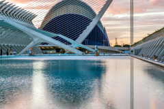 Pont de l'Assaut de l'Or cable-stayed bridge, City of Arts and Sciences, Valencia, Spain
